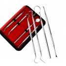 4 Pcs Dental Mirror Stainless Steel Dental Tools Kit Mouth Mirror Dental Kit Instrument Dental Pick