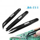 3 Pcs Anti-static Tweezers Set Triad Fix Tool Kit for Smartphone Tablets Electronic Components