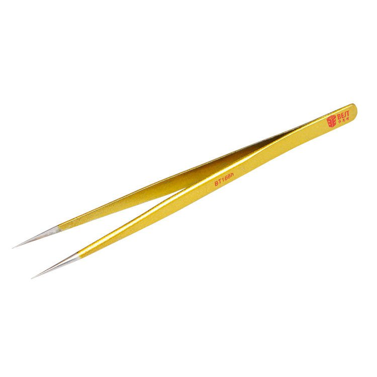 High Quality 202 Gold-plated Stainless Steel Eyelash Extension Pointed Tweezer