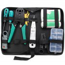 11 Pcs Network Combination PC Cable Wire Tester Crimping Cutter Punch Tools Kit Set