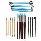 Ball Stylus Dotting Tools Clay Pottery Modeling Carving Rock Ceramics Painting Kit