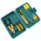 11 PCS Home Repair Tool Set Allen Wrench Plier Screwdriver Household Tool Kit with Plastic Tool Box