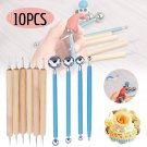 10 Pcs DIY Dotting Tool Ball Styluses Tools Kit For Mandala Rock Painting Pottery Clay