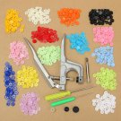 Clothes Button Fastener Snap Plier with 150Set Colorful T5 Snap Plastic Buttons