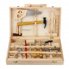 Kid Wooden Storage Toy Tool Set ToolBox DIY Educational Bench Learning Role Play