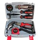 8 Pcs Home Repair Tool Set General Household Hand Tool Kit with Plastic Tool Box