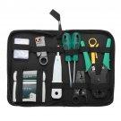 9 Pcs Cat5 RJ45 RJ11 RJ12 LAN Network Tool Kit Crimper Stripper Network Cable Tester Crimping Kit