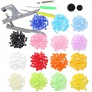 300 Complete Sets Plastic Resin Kam Snaps Fasteners Plier with T5 Press Poppers