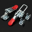 2 Pcs Spring Loaded Toggle Galvanized Iron Latch Catches Hasp for Case Box Chest Trunk