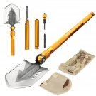Military Folding Shovel Screwdriver Whistle Bottle Opener, Survival Outdoor Camping Tools