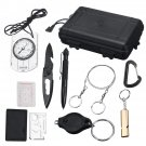 9 in 1 SOS Kit Outdoor Emergency Equipment Box For Camping Survival Tools Gear Kit