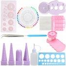 11 Pcs Paper Quilling Board Mould Crimper Comb Ruler Pins Tools Set DIY Craft Kit