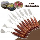 Stainless Steel Palette Scrapers Shovel Spatula Paint Painting Artist Tool