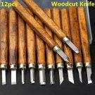 12 Pcs Multifunction Chisel Handmade Wood Carving Tool