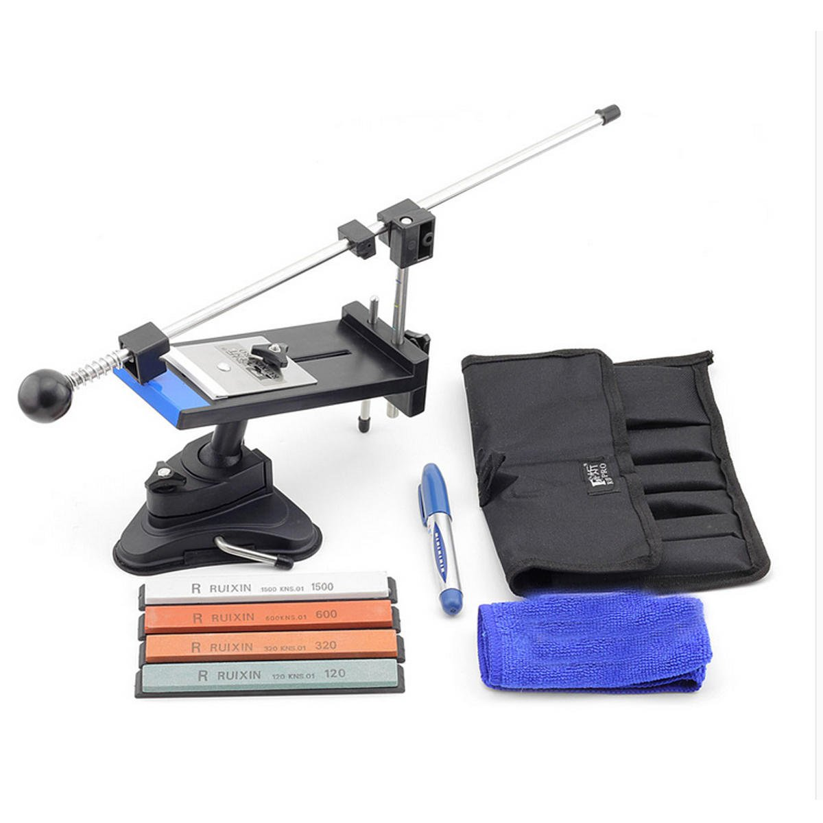 Professional Sharpen Stone Cutter Sharpener System Fix-angle with 4 Pcs Whestones