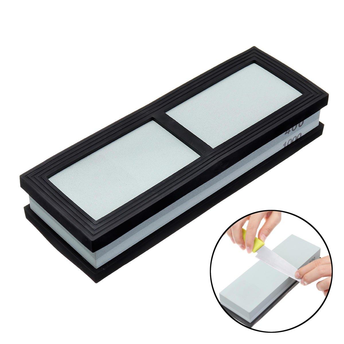 Dual Sided Premium Cutter Sharpen Stone 2 Side Grit Waterstone Best Whetstone Sharpener