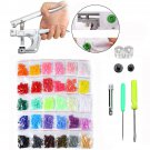 600 Pcs Fastener Snap Kit T5 Snap Buttons Pliers Helper Handheld Sewing Tool