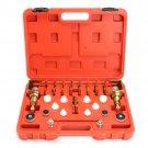 Universal A/C Flush Fitting Adapter Kit Leak Maintenance Tools Set