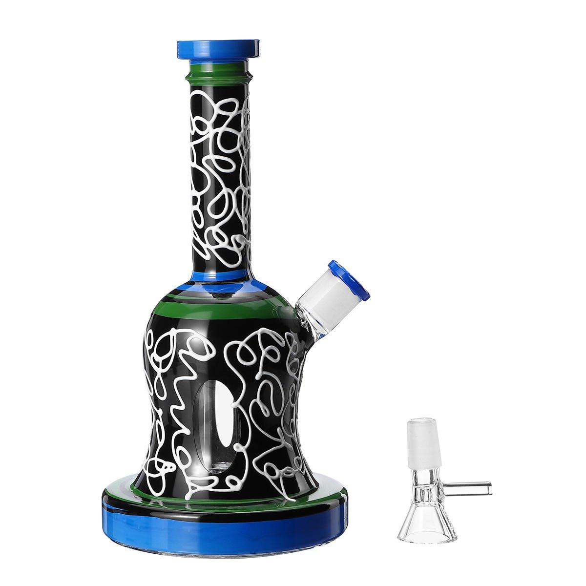 21cm Water Glass Bong Pipe Bottle Glass Bongs Hookah Water Pipe