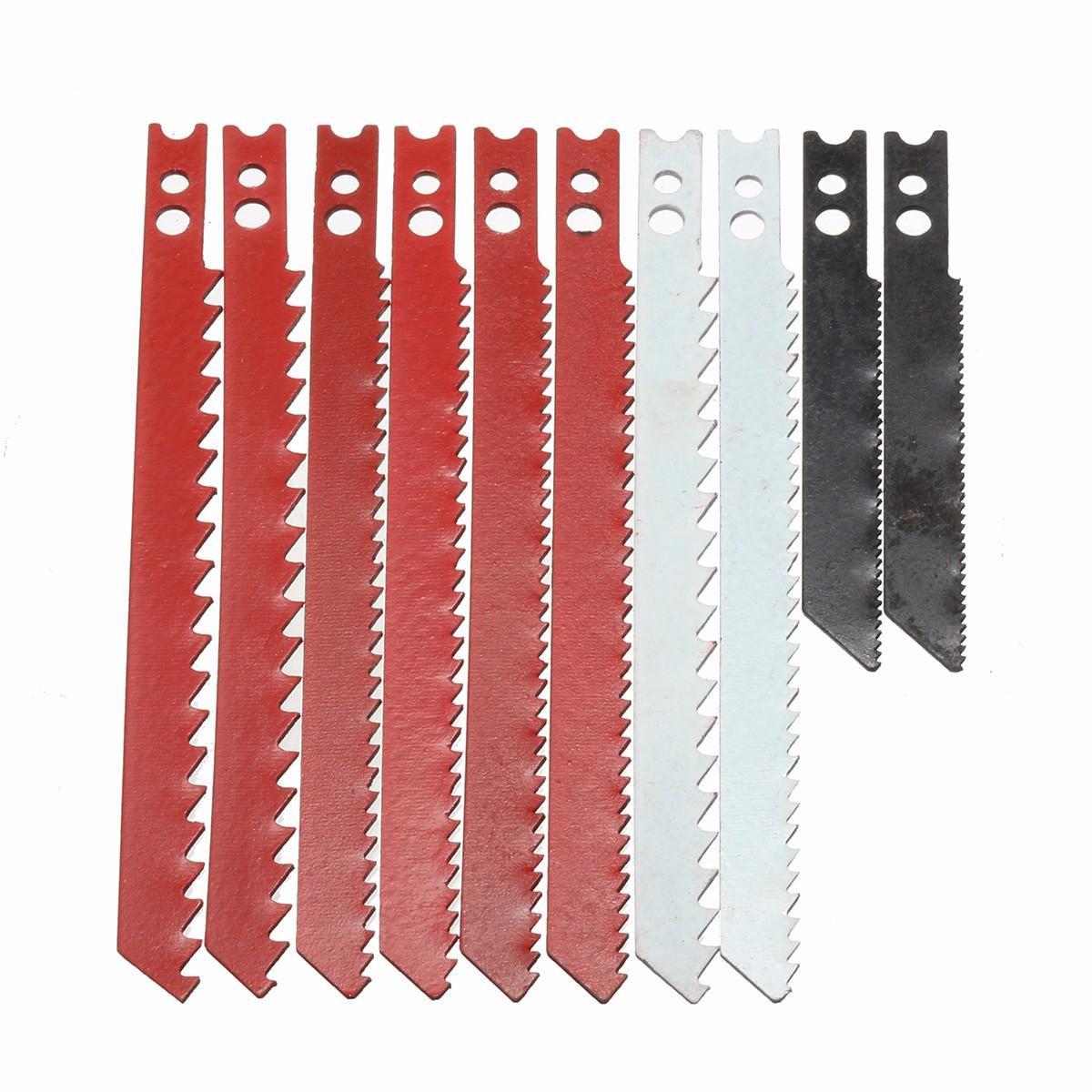 10pcs Saw Blade Set for Black and Decker Jigsaw Metal Plastic Wood Blades