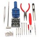 124Pcs Repair Tool Kit Back Case Opener Remover Spring Pin Bar Watchmaker