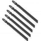 25pcs T144D Black HCS T Shank Jigsaw Blades Wood Plastic Metal Fast Cutting Tools