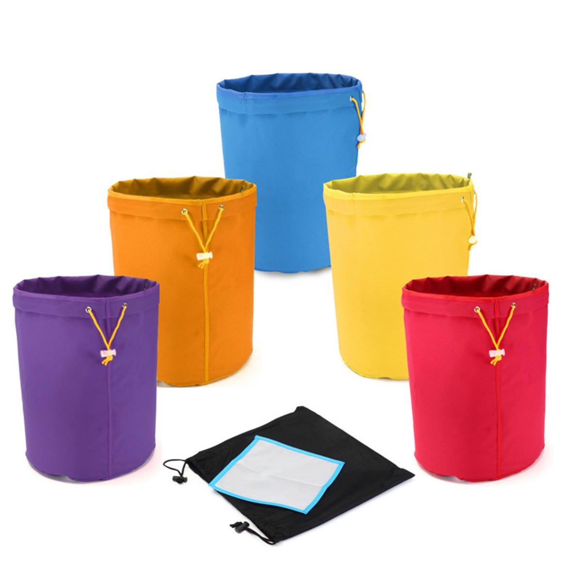 5 Pcs 1 Gallon Bubble Bag Multi-color Herb Filter Bag Plant Residue Filter Bag