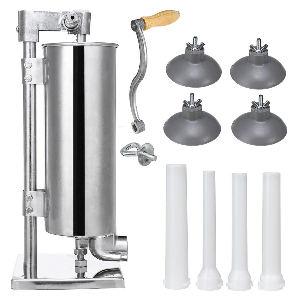 Vertical Sucker 4L Stainless Steel Sausage Filler Sausage Maker Sausage Syringe Meat Tool