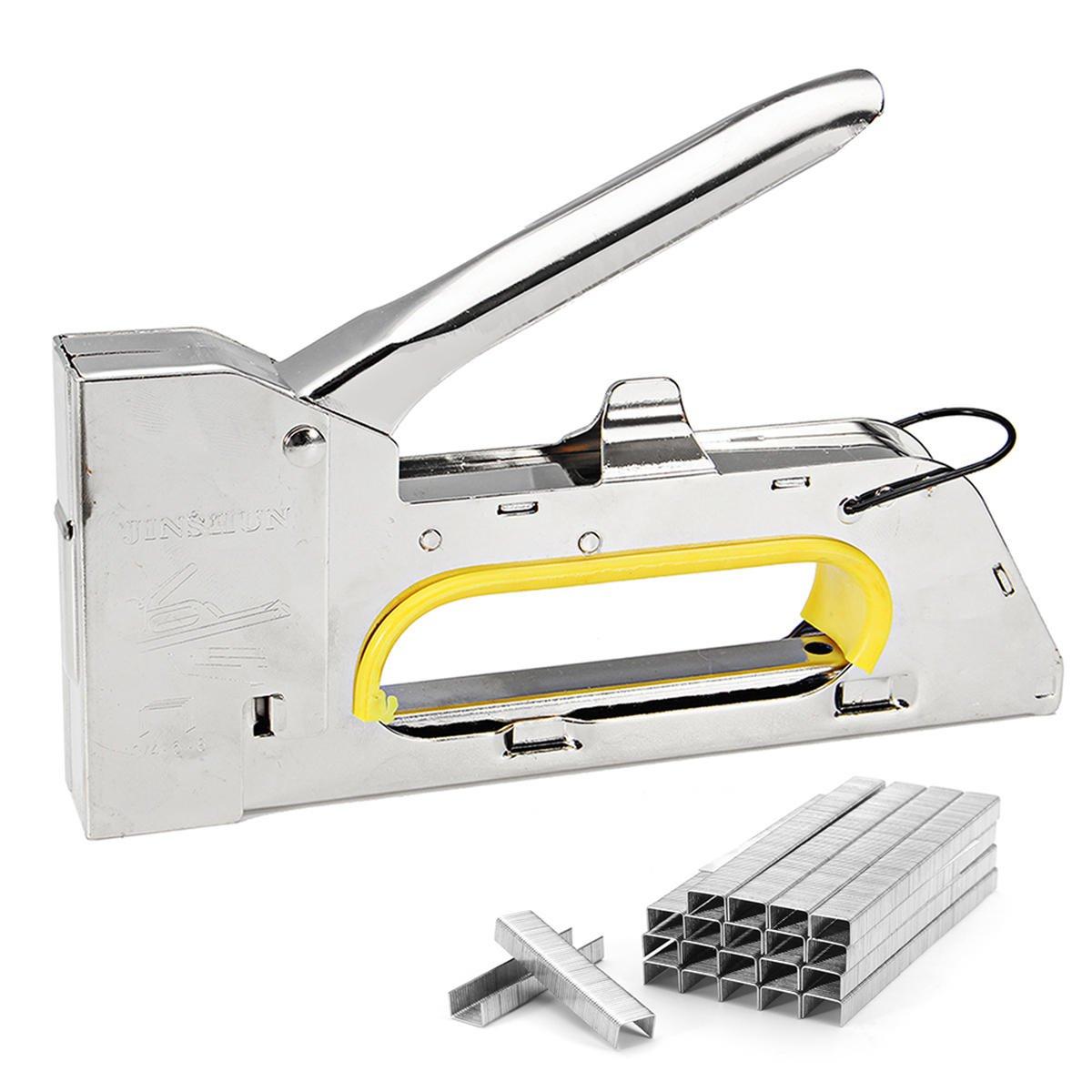 4-6-8mm Handy Heavy Duty Paper Furniture Staple Gun Tacker Stapler with 2400 Staples