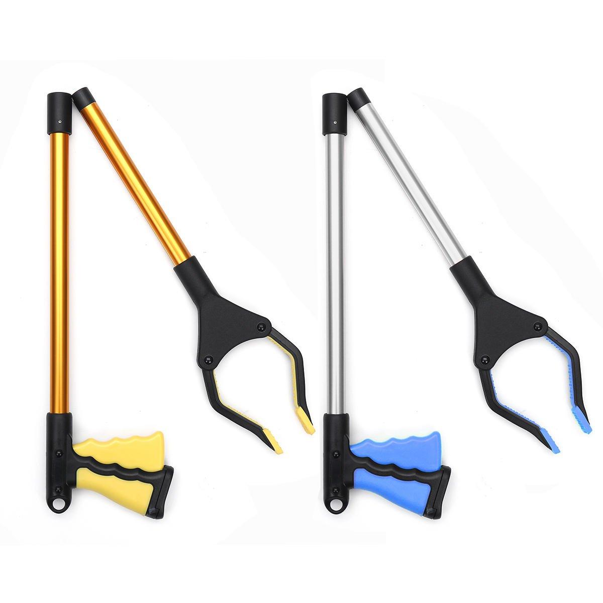 Industrial Heavy Duty Pick Up Tool Reacher Grabber Trash Rotating Hand Stick Tools Kit