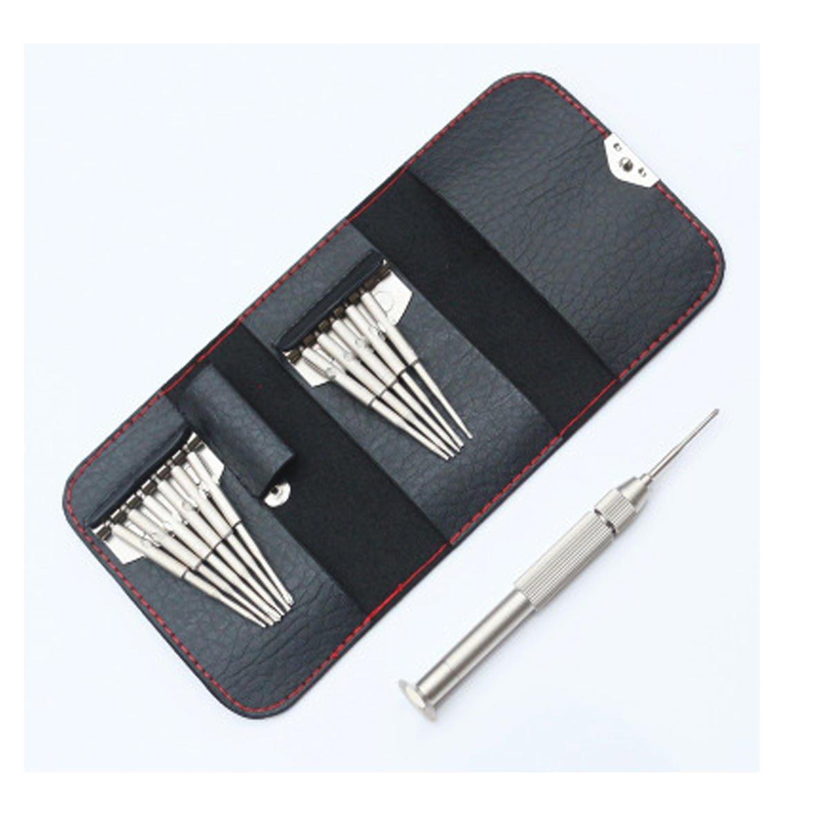12 in 1 Mini Precision Wallet Screwdriver Kit Repair Tool for Phones PC Laptop Drone Model