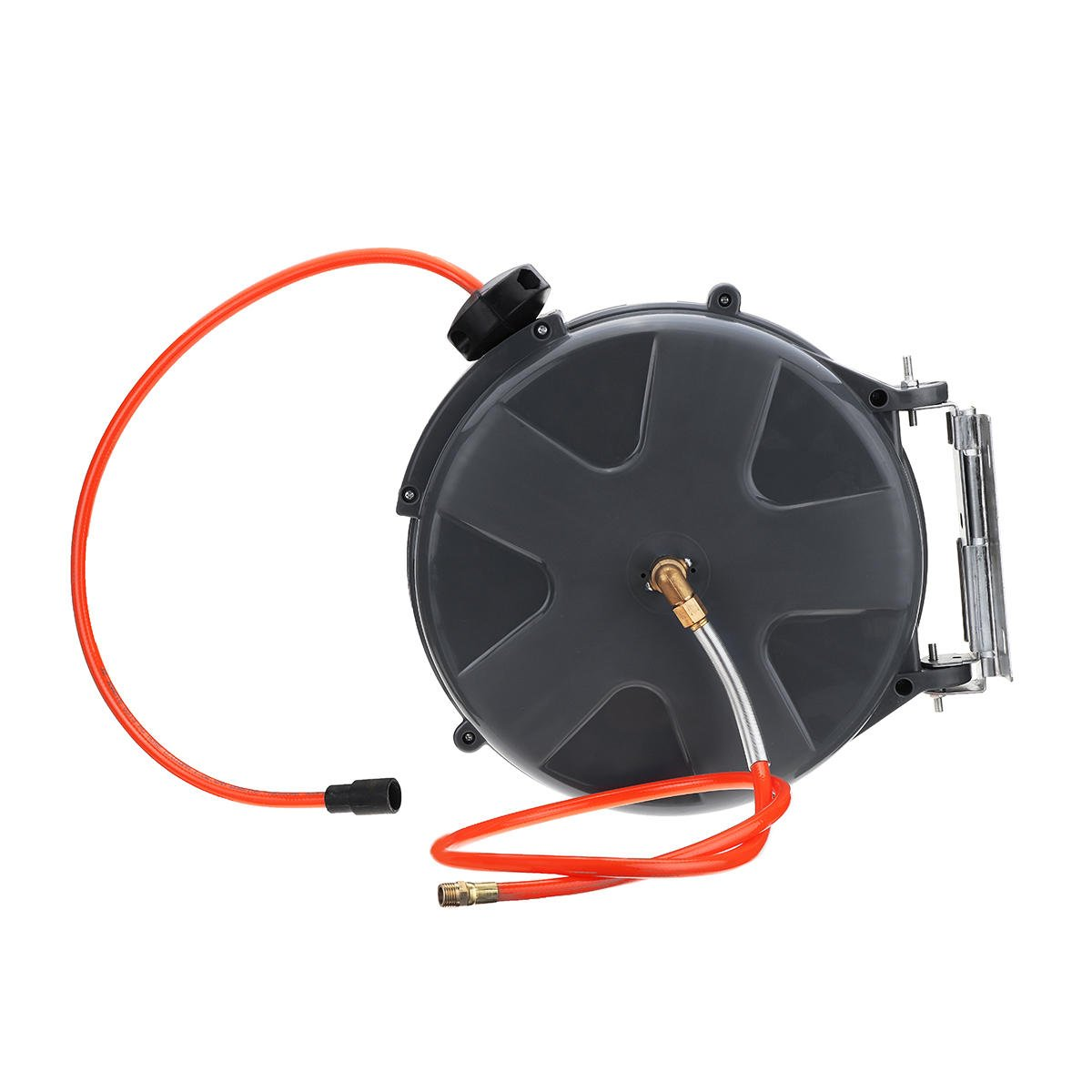 """1/4"""" X 33' Retractable Auto Rewind Air Hose Reel Cord Reel Rotation Wall Mount 260 PSI"""