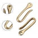 3 Sizes Solid Brass KeyChain Key Ring Belt U Hook Wallet Chain Key Clip Hook