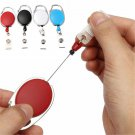 Retractable Reel Keyring Clip Retractable Carabiner Recoil Key Ring Key Chain ID Card Holder