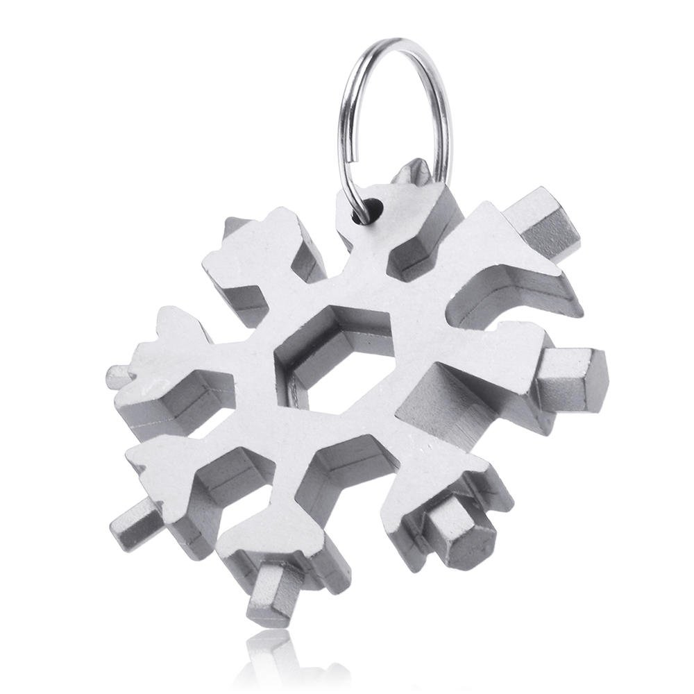 18 in 1 EDC Snowflakes Screwdriver Portable Keychain Screwdriver Bottle Opener, Multifunction