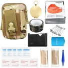 185 Pcs Survival Tools Kit, Multi-Tools First Aid Supplies Survival Gear EDC Gadget Tool