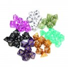 126 Pcs RPG MTG Polyhedral Dice 18 Sets with Pouch Bags 18 Colors