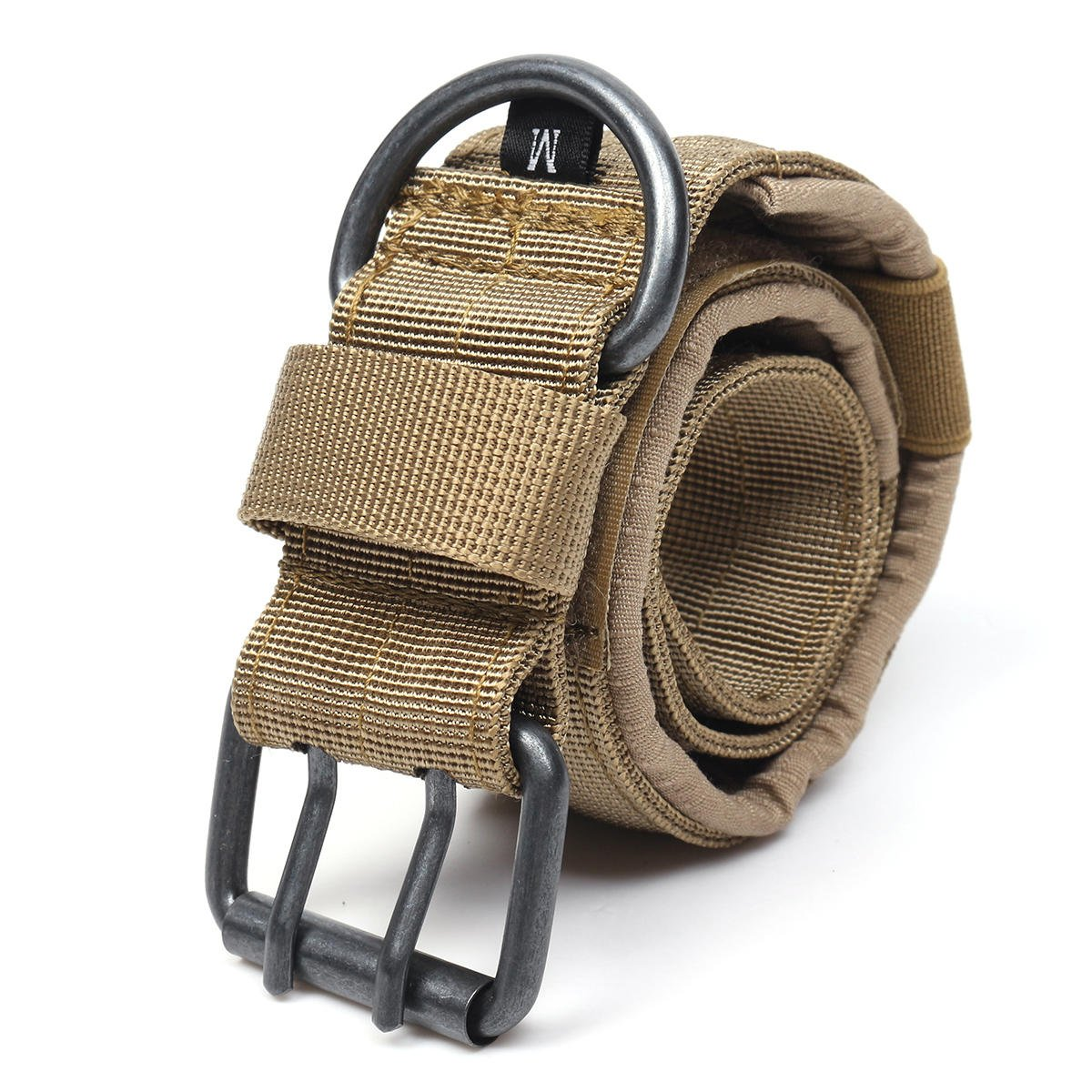 Nylon Tactical Dog Collar Adjustable Training Dog Collar with Metal D Ring Buckle M Size