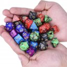 35 Pcs Polyhedral Dice Set Multisided Dices Swirl RPG Role Playing Games Gadget W/ bag