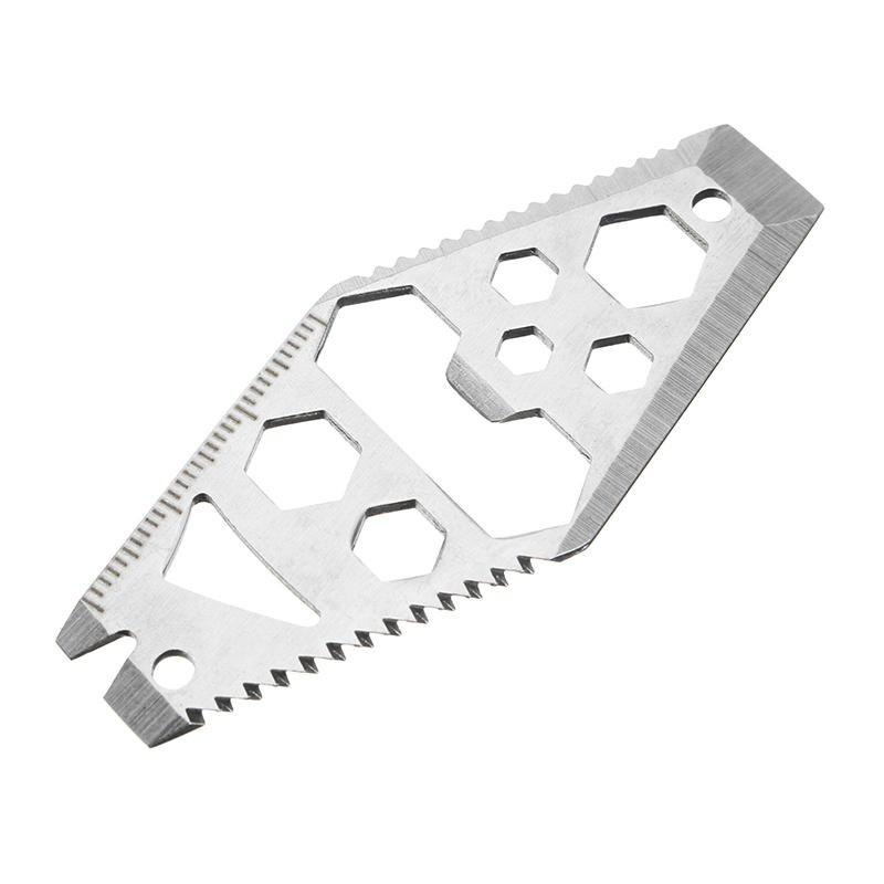 Bottle Opener Saw Crowbar Hex Wrench Spanner Cutter Key Ring EDC Tool, Multifunctional