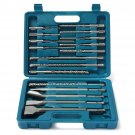 17 in 1 Drill Bits Chisel SDS Plus Rotary Hammer Bits Set For Bosch Hilti Plus