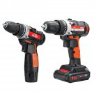 12V/24V Lithium Battery Power Drill Cordless Rechargeable 2 Speed Electric Drill