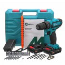 32V 2 Speed Power Drills 6000mah Cordless Drill 3 IN1 Electric Screwdriver Hammer Hand Drill
