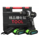 48V 18 Gear Power Drills Cordless Electric Drill 2 Speed LED lighting Powerful Driling Tool
