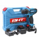 21V Impact Drill Cordless Electric Drill 18+1 Stage Lithium Power Drills Power Drilling Tool