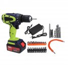 108VF 12800mAh Dual Speed Cordless Drill High Power Household W/ Accessories