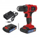 21V/16.8V/12V LED Cordless Electric Drill Screwdriver Driver With 1 or 2 Li-ion Battery