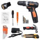 78pcs/30pcs 12V Cordless Screwdriver Tools Kit Electric Drill W/ 2pcs Battery