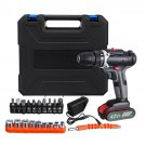 42V 7500mAh Electric Drill Dual Speed Cordless Power Screwdriver Set with Li-ion Battery