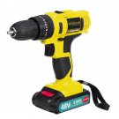 48VF 3000mAh Screwdriver Rechargeable Power Impact Drill 25+1 Torque W/ 1 or 2 Li-ion Battery